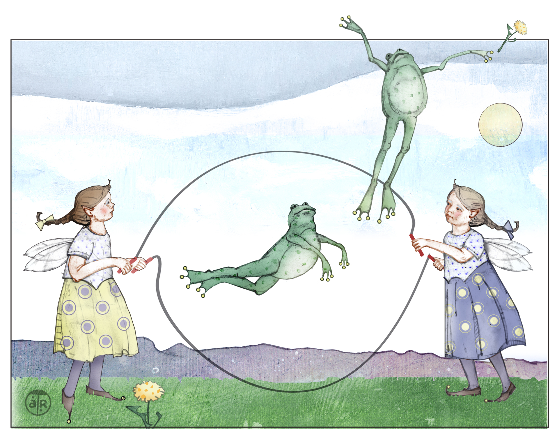 Jumping Rope Frog