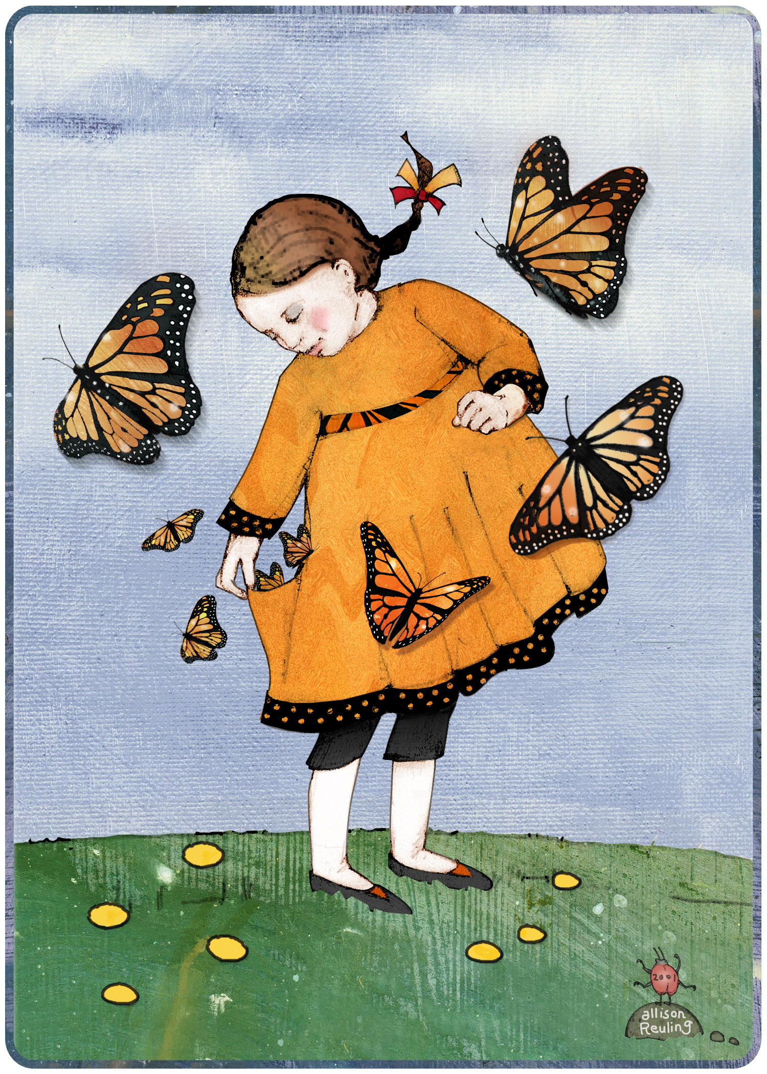 Monarch Butterfly Girl